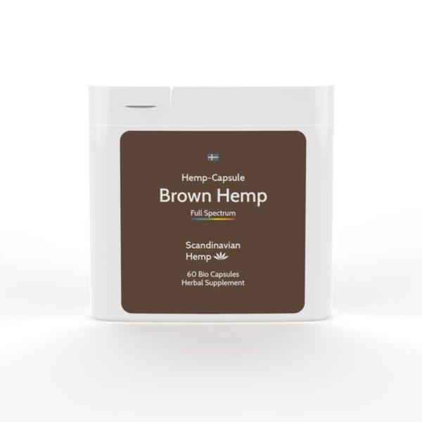 brown hemp capsules